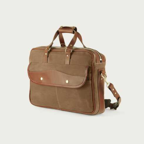 Polka-Dot Penguin Exclusives   White wing chestnut briefcase $304.50
