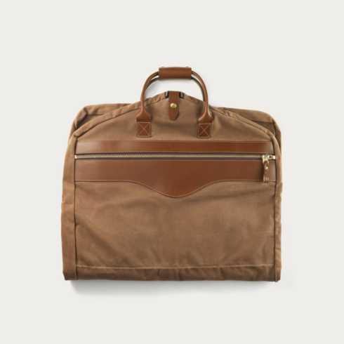 Polka-Dot Penguin Exclusives   White wing chestnut garment bag $220.00