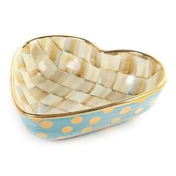 MacKenzie-Childs   Parchment Check Heart Bowl - Large $205.00