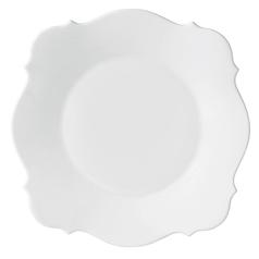 $35.00 Baroque White Dinner Plate