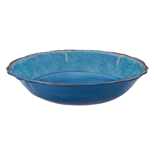 Antiqua Blue Salad Serving Bowl collection with 1 products
