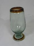 $12.95 Footed Water Goblet- Amber