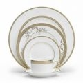 Vera Wang Gold Lace Dinner Plate