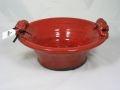 $68.25 Red Round Ceramic Serving Bowl