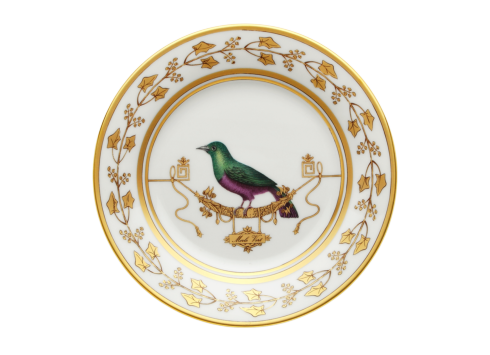 Polka-Dot Penguin Exclusives   Richard Ginori Voliere Merl Verte Salad/Dessert Plate $175.00