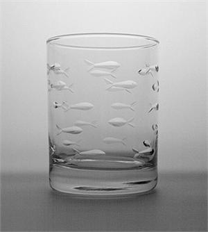Double Old Fashion Fish Glass collection with 1 products