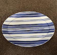 Polka-Dot Penguin Exclusives   Ralph Lauren Hoe Cote D'Azur Stripe Oval Platter $70.00