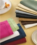$58.00 Cobalt hemstitched napkins set/4