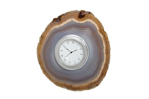 $99.00 Cele Agate Clock - Smoke