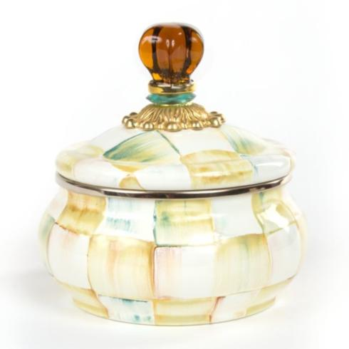 MacKenzie-Childs   Parchment Check Enamel Squash Pot $72.00