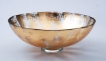 "$170.00 15"" Bubble Glass Bowl"