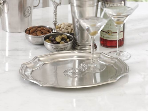 $42.00 Le Grand Cafe\' Pewter Tray