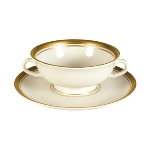 Pickard China  Palace Palace Cream Soup Bowl & Saucer $219.00