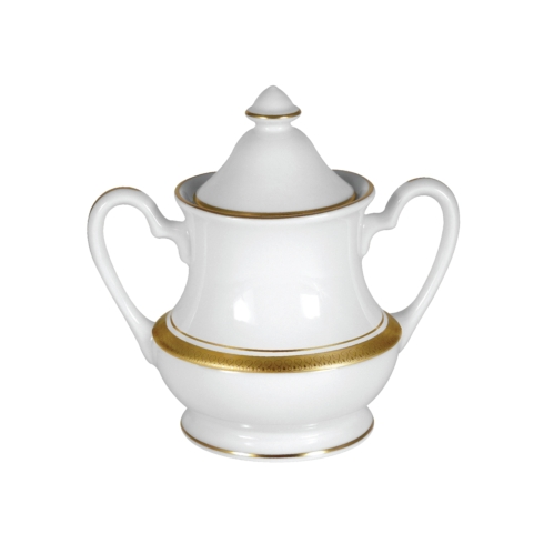 Palace White Sugar Bowl & Cover