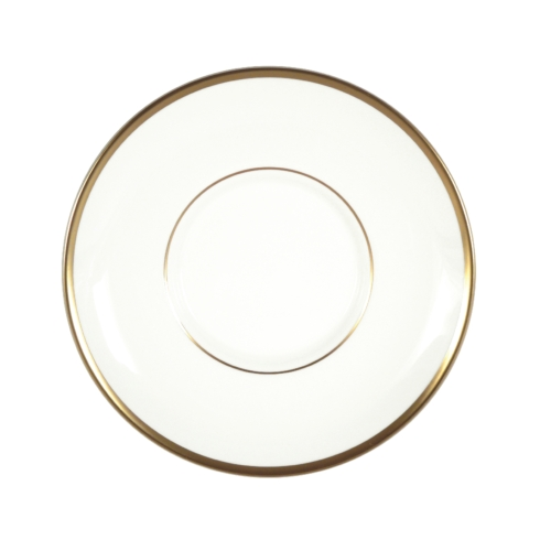 Pickard China Signature With No Monogram - Gold White Can Tea Saucer $29.00