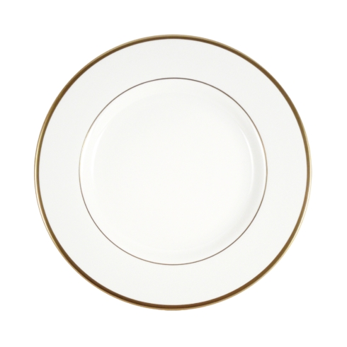 Pickard China  Signature Ultra-White China Body Gold With No Monogram Butter Plate