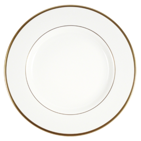 Pickard China  Signature White China Body Gold With No Monogram Dinner Plate $60.00