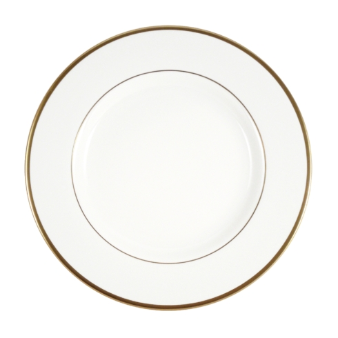 Pickard China  Signature Ultra-White China Body Gold With No Monogram Salad Plate