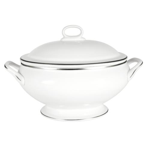 Pickard China Signature With No Monogram - Platinum White Covered Vegetable Bowl $375.00