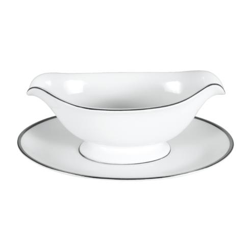 Pickard China Signature With No Monogram - Platinum White Gravy Boat $259.00