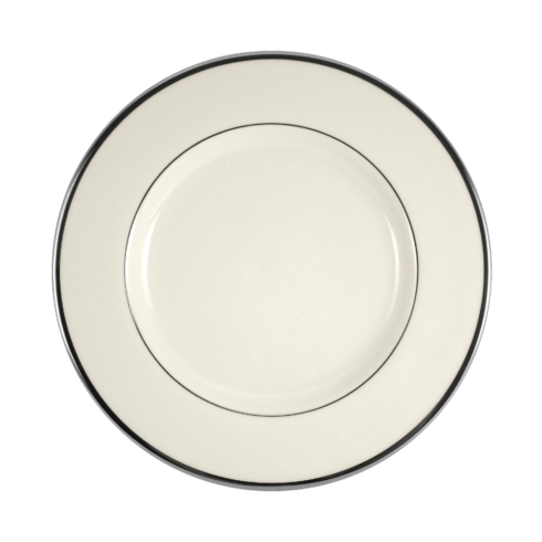 Pickard China  Signature Ivory China Body Platinum With No Monogram Pattern Salad Plate $71.00