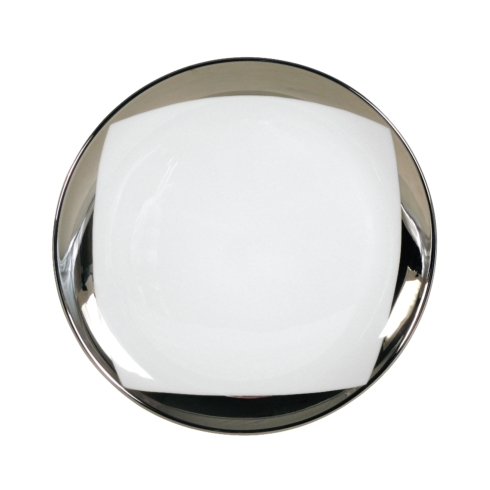 $85.00 Crescent Moon White Accent Salad Plate