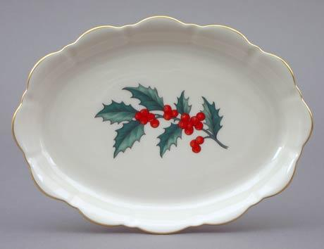 $30.00 Holly Large Oval Mint Tray