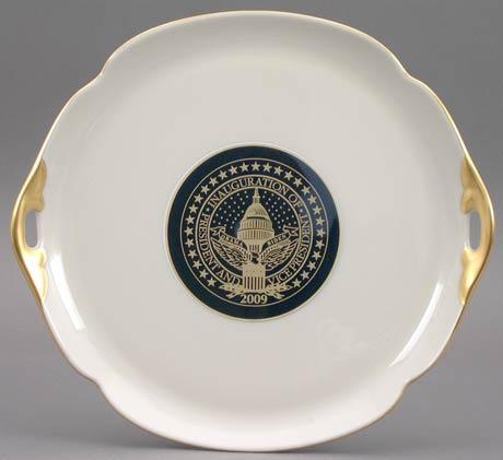 $95.00 President Barack Obama Commemorative Gift Cake Plate for 2009 Inauguration
