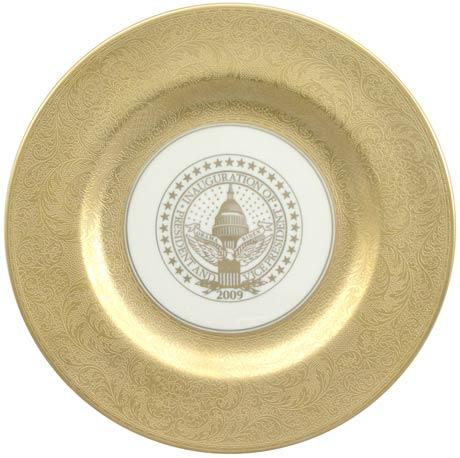 $250.00 President Barack Obama Commemorative Gift Plate for 2009 Inauguration