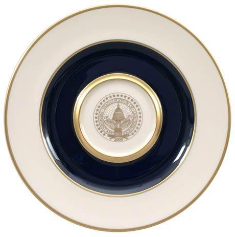 $75.00 President Barack Obama Commemorative Gift Plate for 2009 Inauguration