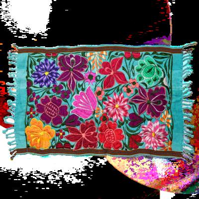 $30.00  Aqua Floral Placemat