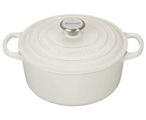 Le Creuset   4.5 Qt Round Dutch Oven-White $335.00