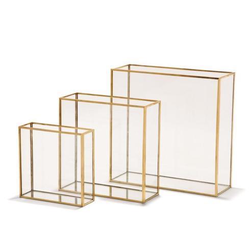 Tozai Home   Square Vase with Gold Trim - Medium $38.00