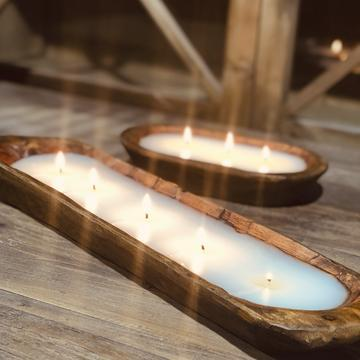 $50.00 Citronella Citrus Fields 5-wick candle in doughbowl
