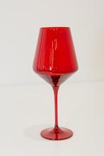 Estelle Colored Glass   Stemware - Red $30.00