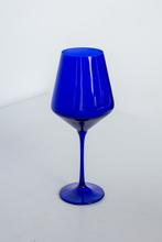 Estelle Colored Glass   Stemware - Royal Blue $30.00
