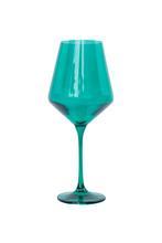 Estelle Colored Glass   Stemware - Emerald $30.00