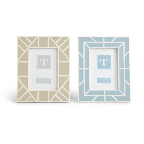 Two\'s Company   Natural Geometric Inlay 5x7 Frame- $45.00
