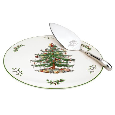 Spode Christmas Tree  Serveware/Giftware Cake Plate and Server Set $39.99