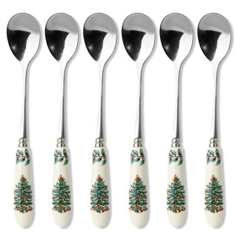 Spode Christmas Tree  Cutlery Set of 6 Tea Spoons $24.99