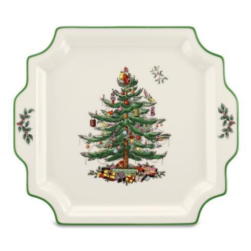 Spode Christmas Tree  Serveware/Giftware Square Handled Platter $29.99