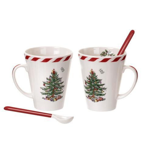 Spode Christmas Tree  Gifts & Accesories Set of 2 Mugs with Spoons $25.00