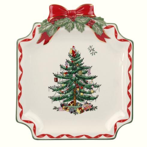 Spode Christmas Tree  Ribbons Collection Canape Plate $14.99