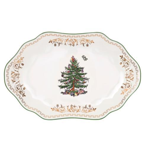 Spode Christmas Tree  Gold Collection Oval Platter Gold $39.99