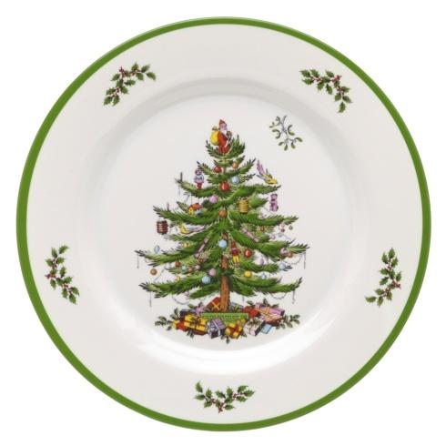 Spode Christmas Tree Melamine Collection Set of 4 Dinner Plates $29.99