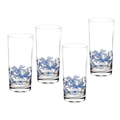 Spode  Blue Italian Set of 4 Hi-Ball Glasses $39.99