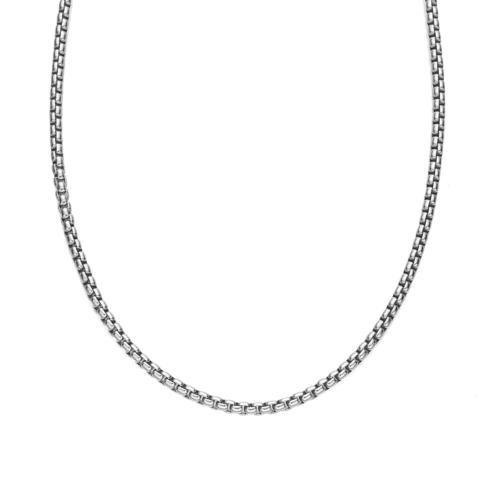 $250.00 Rhodium/Sterling 3.3mm Round Box Chain 24""