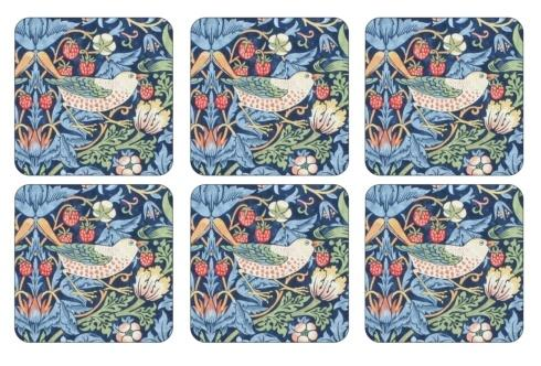 Strawberry Thief Blue Coasters