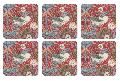 Strawberry Thief Red Coasters collection with 1 products