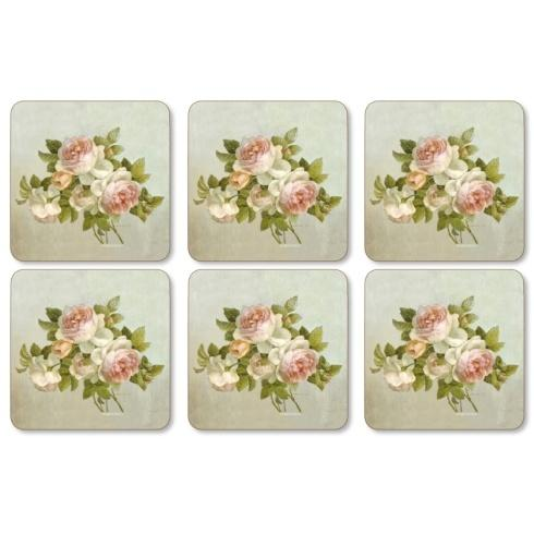 $15.00 Antique Roses Coasters